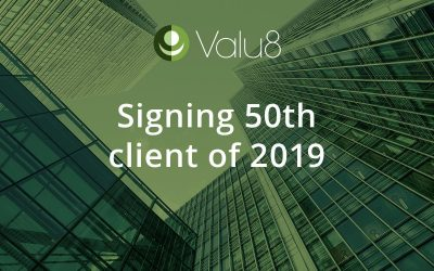 Valu8 signed its 50th new client of 2019.