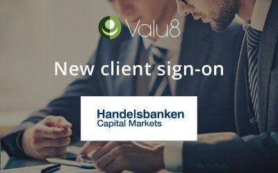 Handelsbanken Capital Markets selects Valu8