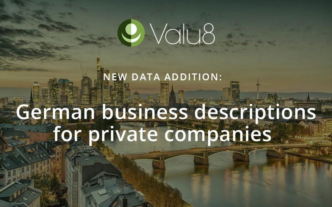 German business descriptions for private companies