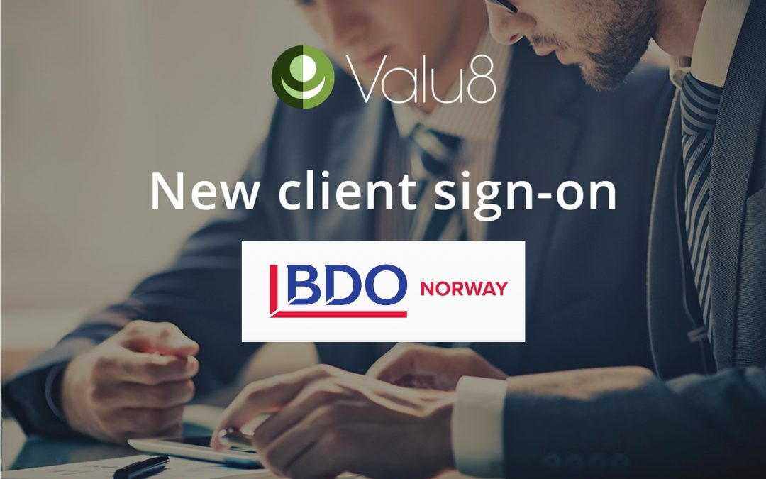 BDO Corporate Finance and Transaction Advisory Services in Norway has selected Valu8