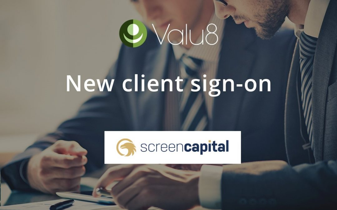 Screen Capital AB selects Valu8 as its trusted data and software application provider.