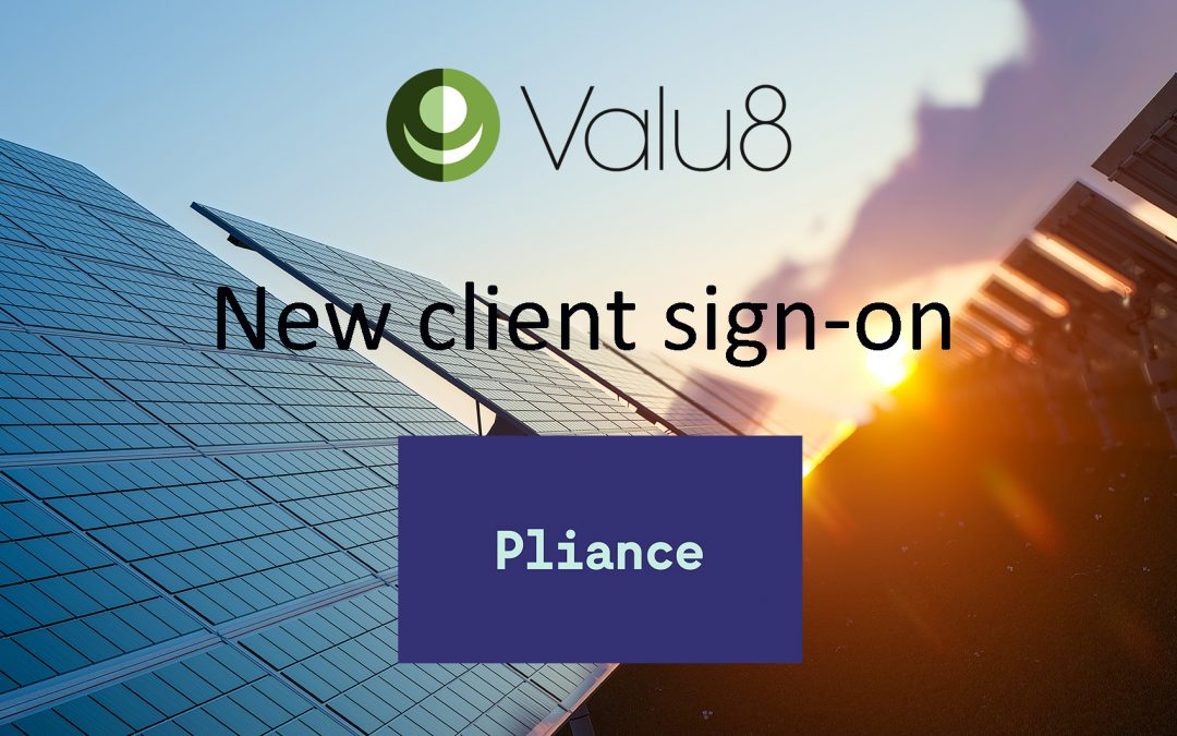 Pliance selects Valu8 as its data and software application provider
